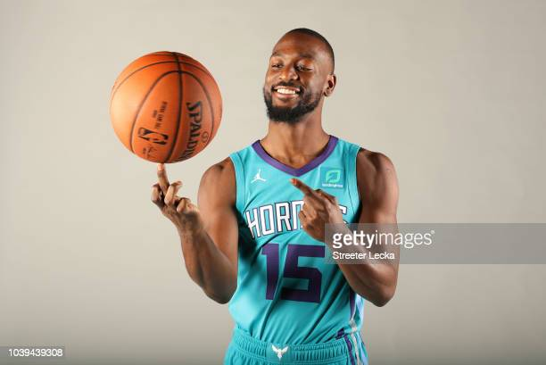 Kemba Walker poses for a portrait during the Charlotte Hornets Media Day at the Spectrum Center on September 24 2018 in Charlotte North Carolina