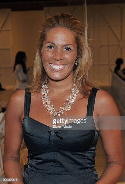 Kemberly Richardson attends the Ann Taylor Fall 2009 See Now Wear Now Runway Show at the New York Public Library Celeste Bartos Forum on September 17...