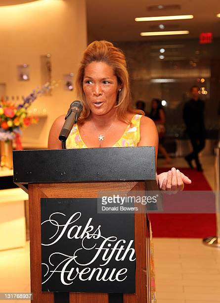Kemberly Richardson gives a speech during the Color of Broadway presented by Saks Fifth Avenue at Saks Fifth Avenue on June 9 2011 in New York City