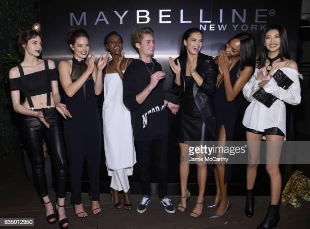 Kemp Muhl Emily DiDonato Herieth Paul DJ Neels Visser Adriana Lima Jourdan Dunn and IHua Wu attend Maybelline New York celebrates Fashion Week at PHD...