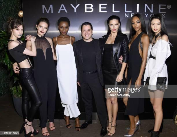 Kemp Muhl Emily DiDonato Herieth Paul Leonardo Chavez Adriana Lima Jourdan Dunn and IHua Wu attend Maybelline New York celebrates Fashion Week at PHD...