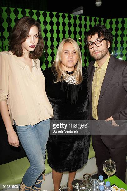 Kemp Muhl, Silvia Fendi and Sean Lennon attend Fendi 'O' party For Pixie Lott at the VIP ROOM Theater on October 6, 2009 in Paris, France.
