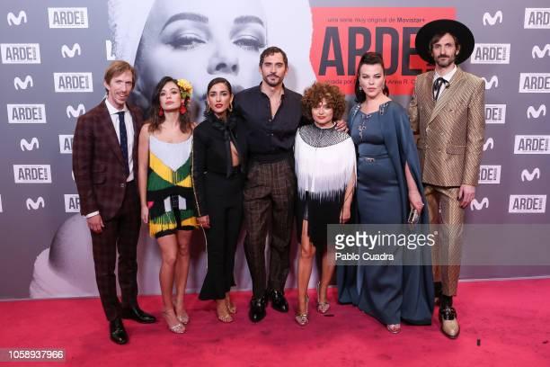 Ken Appledorn Anna Castillo Inma Cuesta Paco Leon Anna R Costa Debi Mazar and Julian Villagran attend the 'Arde Madrid' premiere at Capito Cinema on...