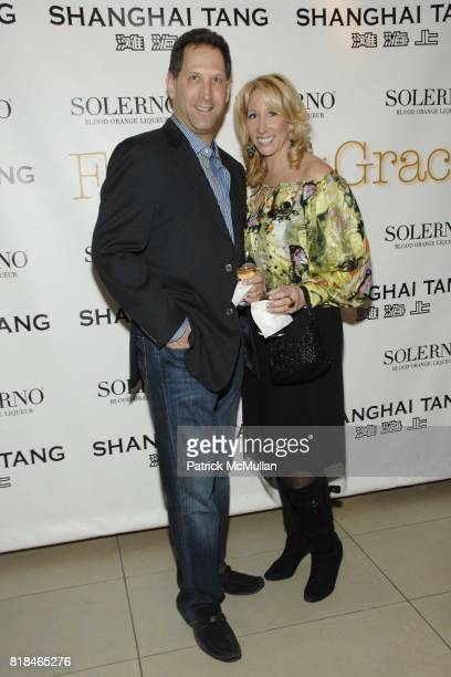 Ken Askenase and Lisa Konsker attend Shanghai Tang and Solerno's Premiere of Fay Ann Lee's Falling For Grace at Asia Society on January 26 2010 in...