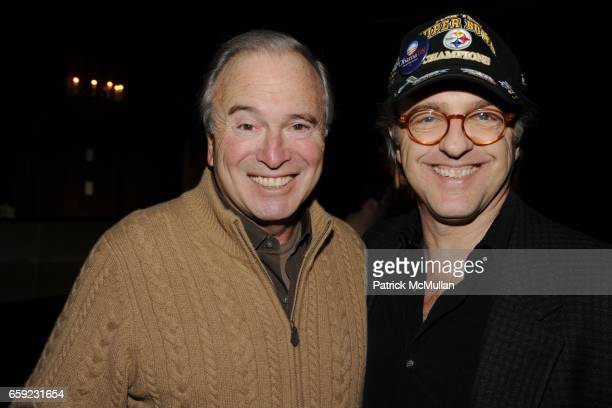 Ken Auletta and David Michaelis attend SUPER BOWL Party at The Oak Room on February 1 2009 in New York City