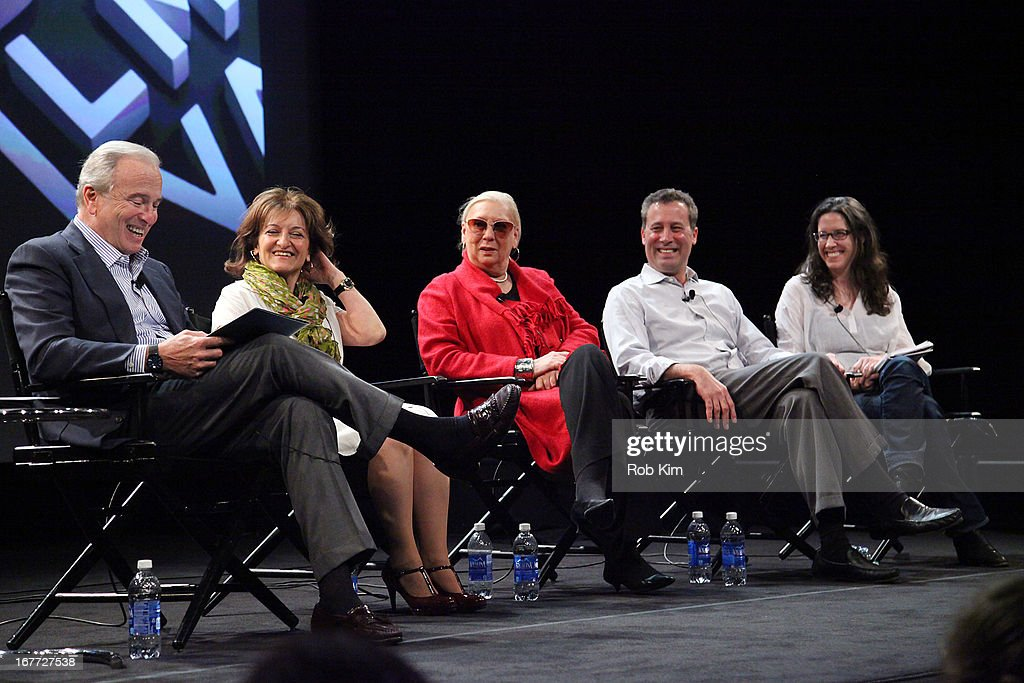 Ken Auletta, Vivienne Roumani, Jane Friedman, Anthony W. Marx and Annie Murphy Paul attend Tribeca Talks After The Movie: 'Out Of Print' during the 2013 Tribeca Film Festival on April 28, 2013 in New York City.