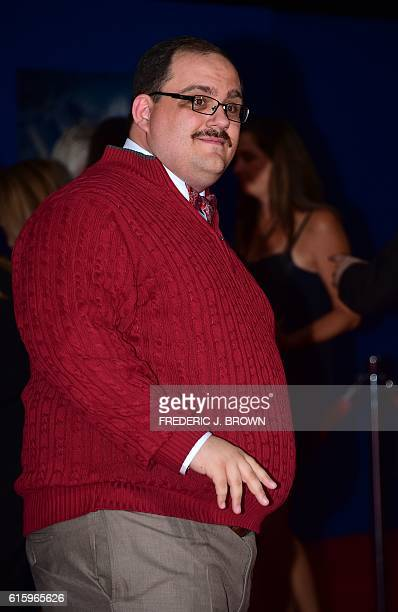 Ken Bone poses for photographers at the world premiere of Marvel Studios 'Doctor Strange' in Hollywood California on October 20 2016 / AFP / Frederic...