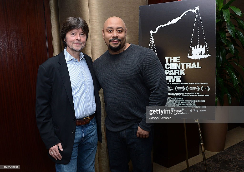 Ken Burns and Raymond Santana attend 'The Central Park Five' New York Special Screening at Dolby 88 Theater on October 2, 2012 in New York City.