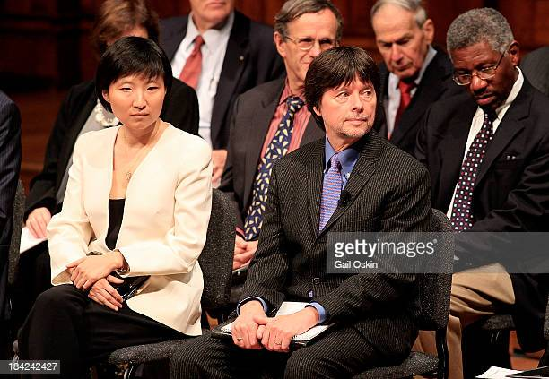 Ken Burns attends the American Academy of Arts and Sciences Induction Ceremony 2013 at the Sanders Theatre at Harvard University on October 12 2013...