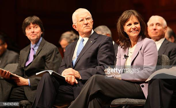 Ken Burns Don Randel and Sally Field attend the American Academy of Arts and Sciences Induction Ceremony 2013 at the Sanders Theatre at Harvard...