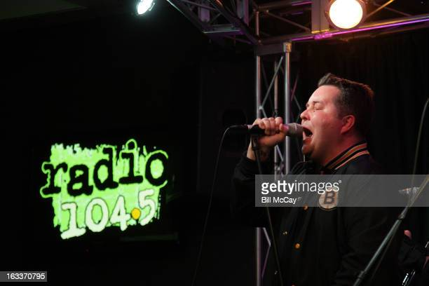 Ken Casey of Dropkick Murphys performs at Radio Station Q102 iHeartRadio Performance Theater March 8 2013 in Bala Cynwyd Pennsylvania