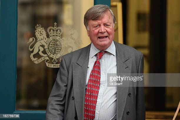 Ken Clarke, a Minister without Portfolio in the UK Government, leaves the Cabinet Office on September 24, 2012 in London, England.