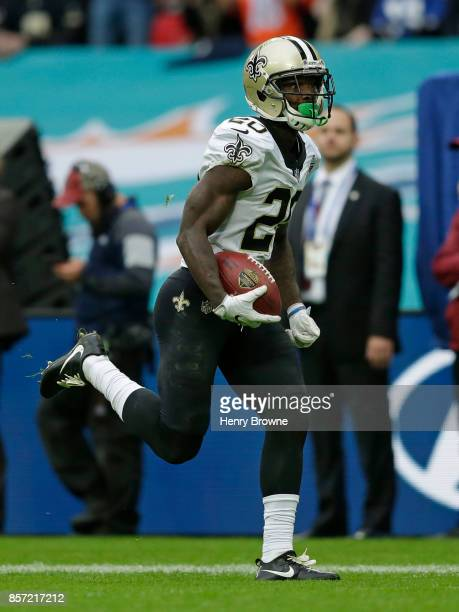Ken Crawley of the New Orleans Saints during the NFL game between the Miami Dolphins and the New Orleans Saints at Wembley Stadium on October 1 2017...