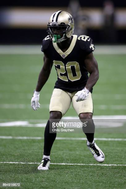 Ken Crawley of the New Orleans Saints in action against the New York Jets at MercedesBenz Superdome on December 17 2017 in New Orleans Louisiana