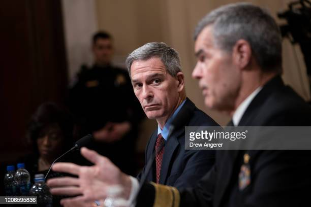 Ken Cuccinelli ,acting deputy Secretary of the U.S. Department of Homeland Security, and Dr. Stephen Redd, director of the Office of Public Health...