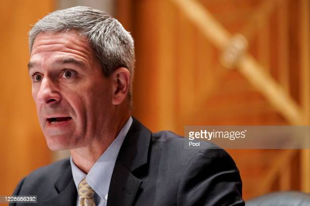Ken Cuccinelli, senior official performing the duties of the Deputy Homeland Security Secretary, testifies before a Senate Homeland Security and...