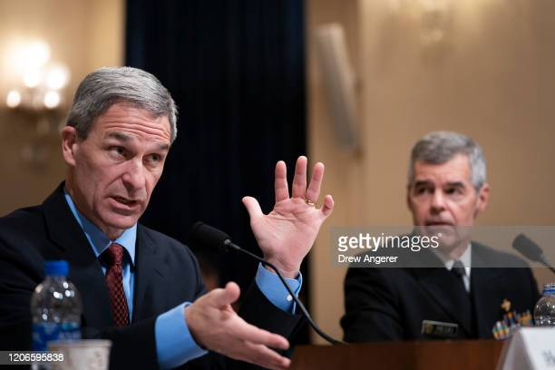 Ken Cuccinelli,acting deputy Secretary of the U.S. Department of Homeland Security, and Dr. Stephen Redd, director of the Office of Public Health...