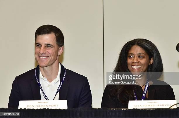 Ken Davenport, and Alia Harvey Jones speak at BroadwayCon 2017 at The Jacob K. Javits Convention Center on January 27, 2017 in New York City.
