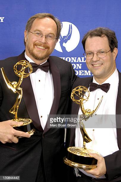 """Ken Diego and Jim Martin of """"Sesame Street"""" during The 32nd Annual Creative Craft Daytime Emmy Awards - Portraits at Mariott Marquis Hotel in New..."""