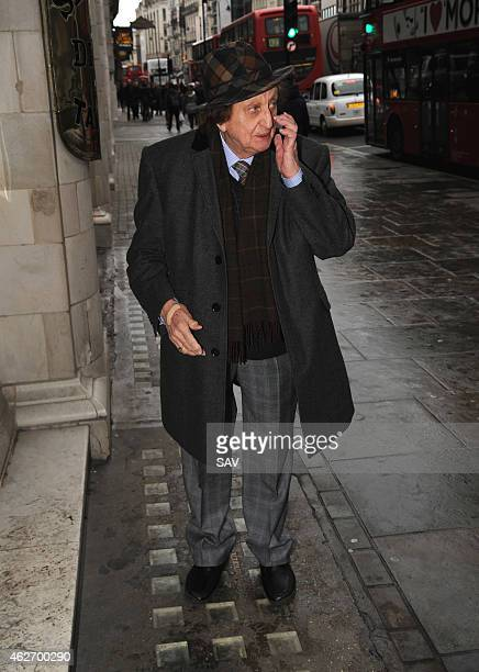 Ken Dodd arrives at The Oldie Awards at Simpsons on the Strand on February 3 2015 in London England