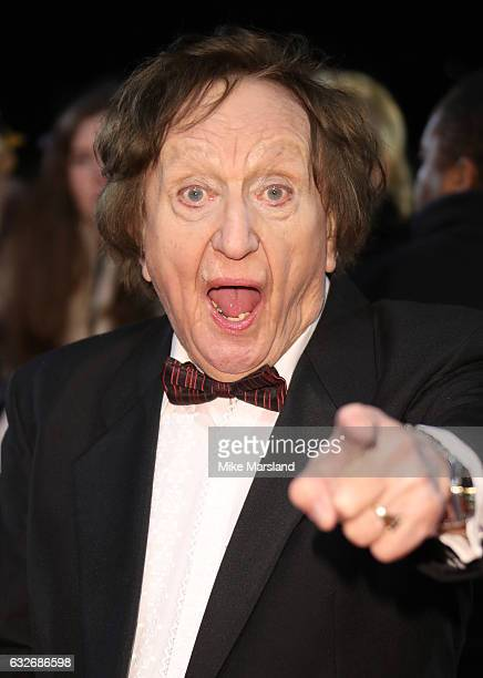 Ken Dodd attends the National Television Awards at The O2 Arena on January 25 2017 in London England