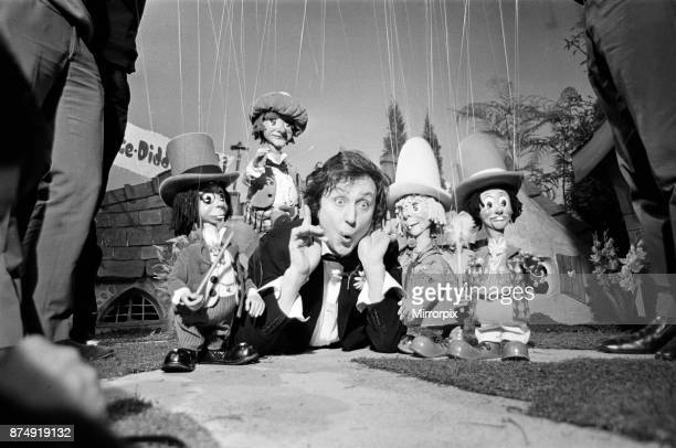 Ken Dodd in the Diddy Village with the props for his new children show for the BBC pictures taken at the BBC Dickenson Road Studios 4th November 1968
