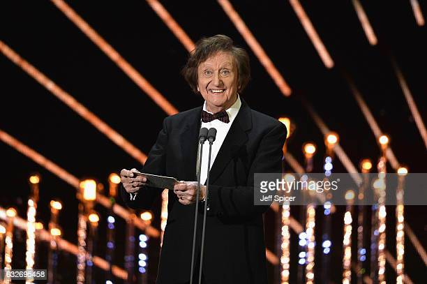 Ken Dodd on stage during the National Television Awards at The O2 Arena on January 25 2017 in London England