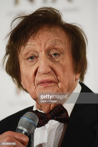 Ken Dodd poses in the winners room at the National Television Awards at The O2 Arena on January 25 2017 in London England