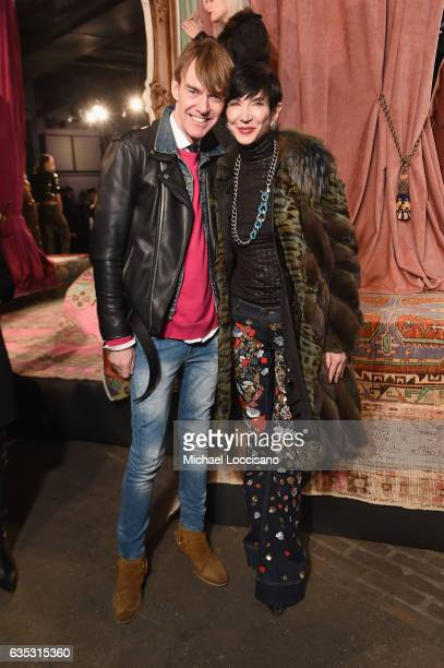 Ken Downing and Amy Fine Collins attend the alice olivia by Stacey Bendet Fall 2017 Presentation at Highline Stages on February 14 2017 in New York...