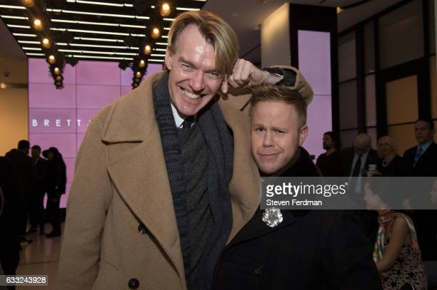 Ken Downing and Andrew Werner attend Brett Johnson Front Row NYFW Men's at Cadillac House on January 31 2017 in New York City