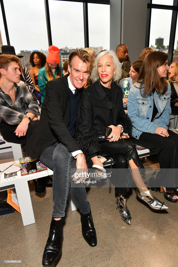 Ken Downing (L) and Linda Fargo attend the Libertine front row during New York Fashion Week: The Shows at Gallery II at Spring Studios on September 10, 2018 in New York City.