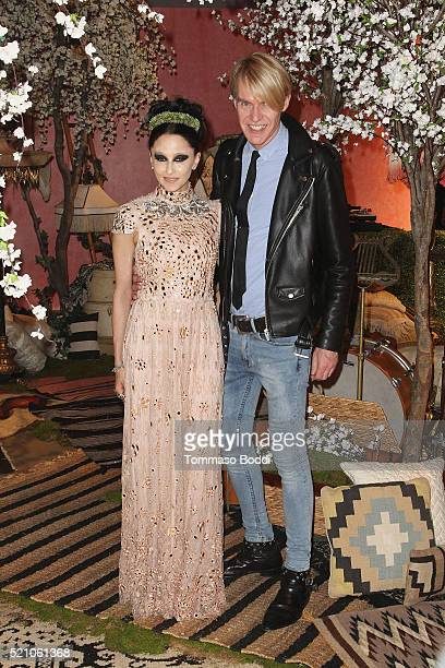 Ken Downing and Stacey Bendet attend the alice + olivia By Stacey Bendet And Neiman Marcus Present See-Now-Buy-Now Runway Show at NeueHouse Los...
