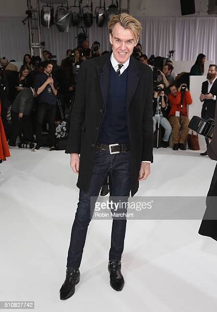 Ken Downing attends Delpozo during Fall 2016 New York Fashion Week at Pier 59 Studios on February 17, 2016 in New York City.