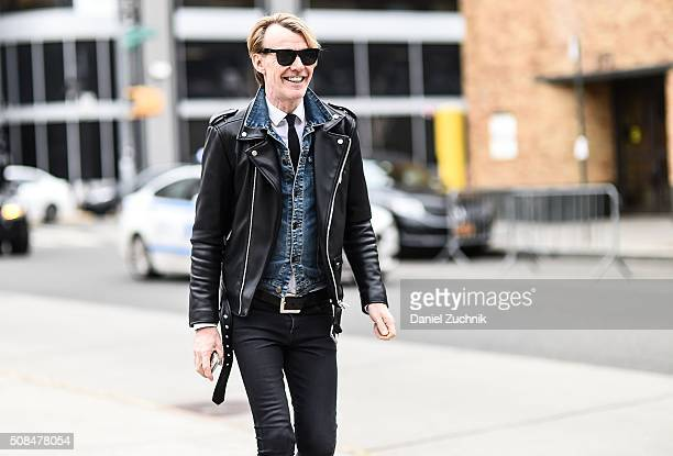 Ken Downing is seen outside the Timo Weiland show during New York Fashion Week Men's Fall/Winter 2016 on February 4 2016 in New York City