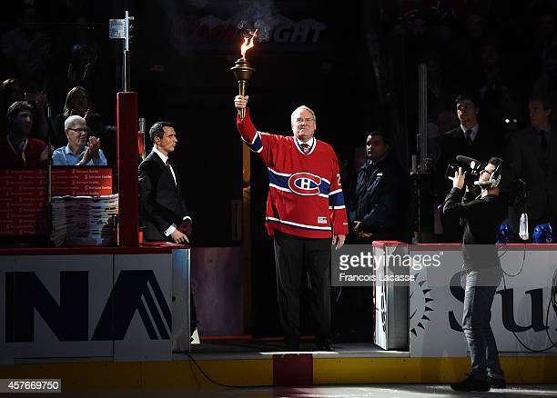Ken Dryden before the NHL gamet between the Montreal Canadiens and the Boston Bruins in the at the Bell Centre on October 16 2014 in Montreal Quebec...