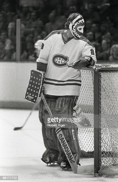 Ken Dryden of the Montreal Canadiens looks on during a circa 1970s game