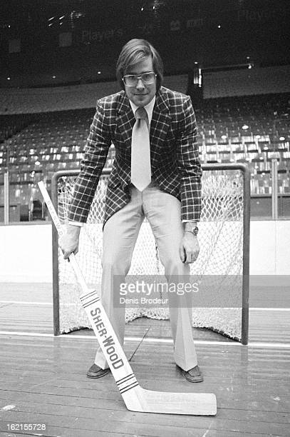 Ken Dryden of the Montreal Canadiens poses for a photo in the Montreal Forum circa 1970 in Montreal Quebec Canada