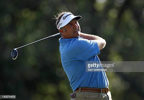 Ken Duke in action during the final round of the Transitions Championship at the Innisbrook Resort and Golf Club on March 18 2012 in Palm Harbor...