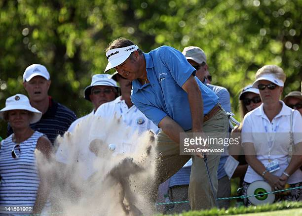Ken Duke plays a shot on the 17th hole during the final round of the Transitions Championship at the Innisbrook Resort and Golf Club on March 18 2012...