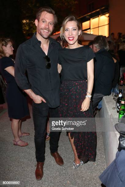 Ken Duken and his wife Marisa Leonie Bach during the 'Audi Director's cut' Party during the Munich film festival at Praterinsel on June 24 2017 in...