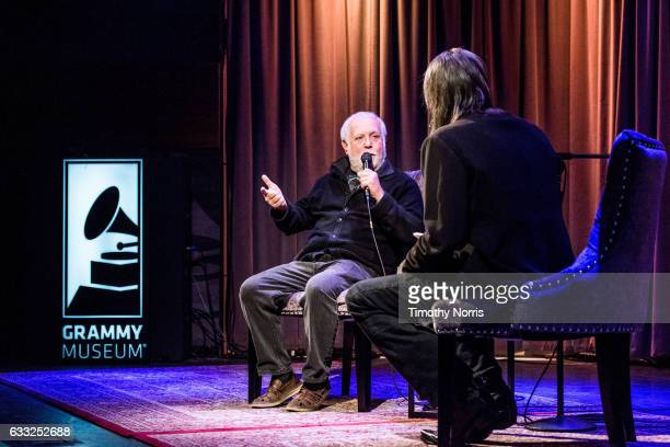 Ken Ehrlich and Scott Goldman speak during Icons of the Music Industy Ken Ehrlich at The GRAMMY Museum on January 31 2017 in Los Angeles California