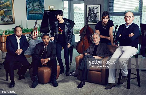Ken Ehrlich Big Sean Diane Warren Neil Portnow Jack Antonoff and Steve Barnett are photographed for the Grammy Roundtable for The Hollywood Reporter...