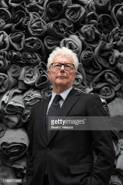 Ken Follet attends the final lecture of The Pillars of the Earth on November 18 2019 in Madrid Spain