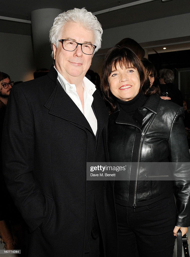 Ken Follett (L) and Barbara Follett attend a private view of Bill Wyman's new exhibit 'Reworked' at Rook & Raven Gallery on February 26, 2013 in London, England.