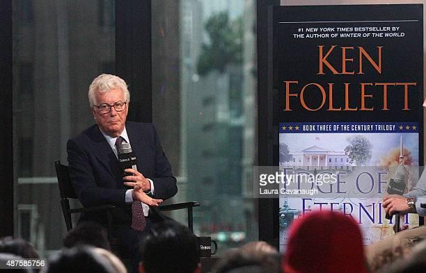 Ken Follett attends AOL BUILD Speaker Series Ken Follett at AOL Studios In New York on September 10 2015 in New York City