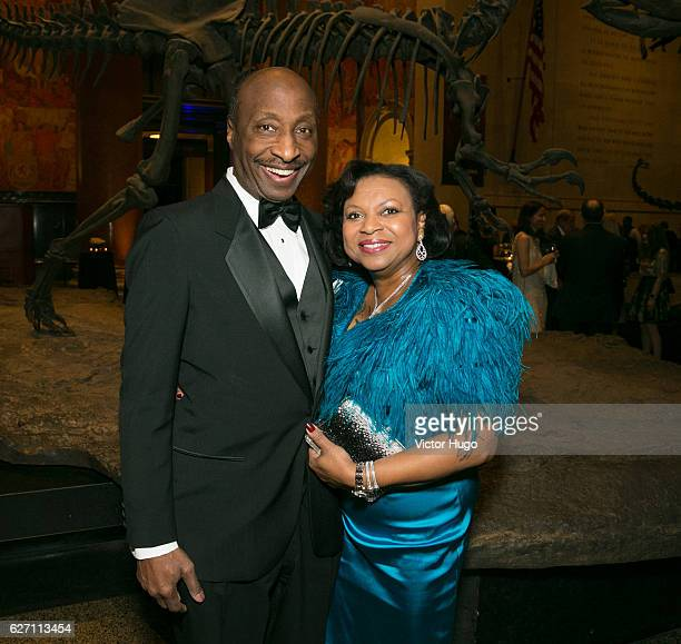 Ken Frazier and Andrea Frazier attend old Spring Harbor Laboratory's Double Helix Medals at American Museum of Natural History on December 1 2016 in...