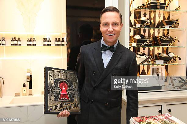 Ken Fulk poses for a photo with his book at the Jo Malone and ELLE celebration event on December 12 2016 in San Francisco California