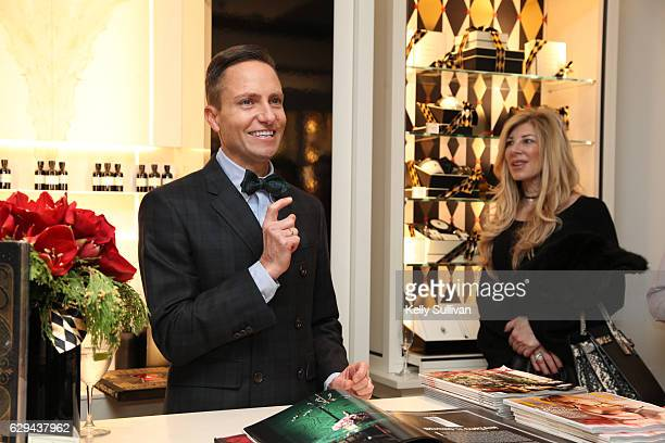 Ken Fulk speaks to guests about his book and collaboration with Jo Malone and ELLE Decor at the Jo Malone and ELLE celebration event on December 12...