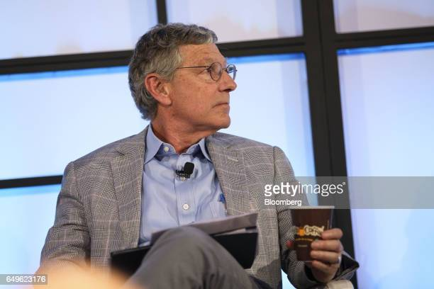 Ken Goldman chief financial officer of Yahoo Inc listens during the Montgomery Summit in Santa Monica California US on Wednesday March 8 2017 The...