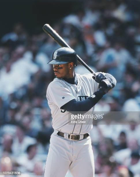 Ken Griffey Jr Centerfielder for the Seattle Mariners at bat during the Major League Baseball American League East game against the New York Yankees...